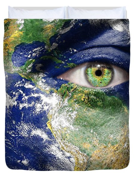 Fight For A Better World  Duvet Cover by Semmick Photo