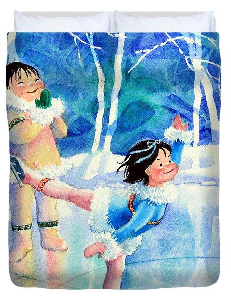 Figure Skater 15 Duvet Cover