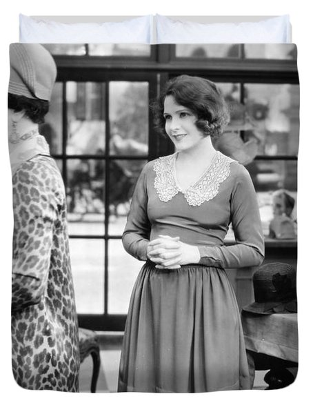 Film: Woman Disputed, 1928 Duvet Cover by Granger