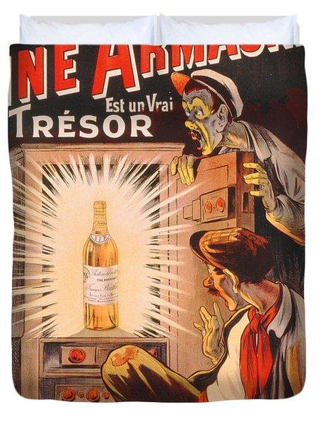 Fine Armagnac Advertisement Duvet Cover by Eugene Oge