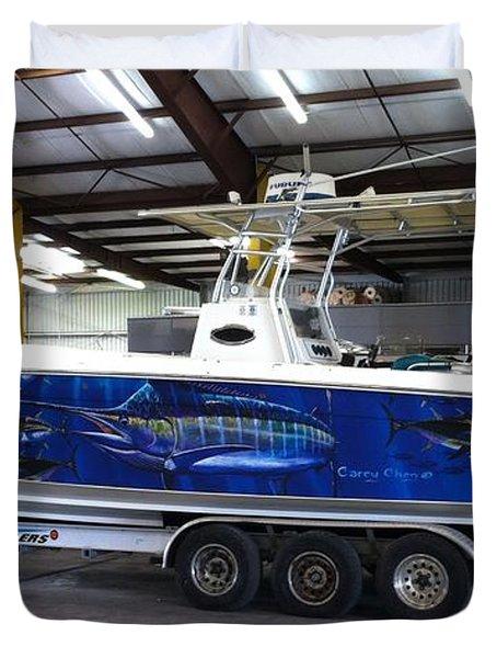 Fine Art Boat Wraps Duvet Cover by Carey Chen