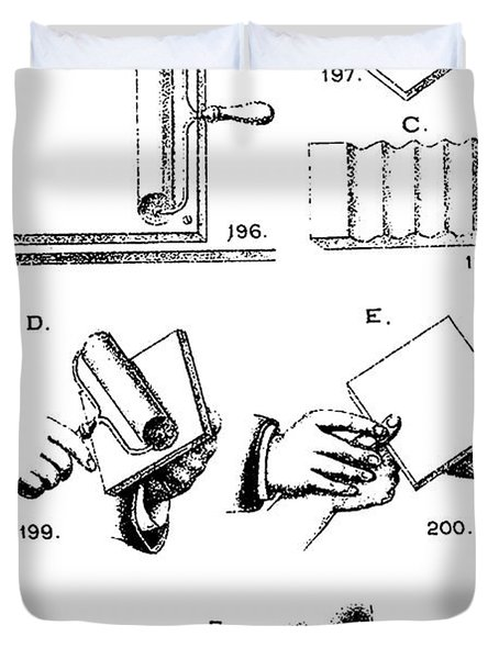 Fingerprinting Instructions, Circa 1900 Duvet Cover by Science Source