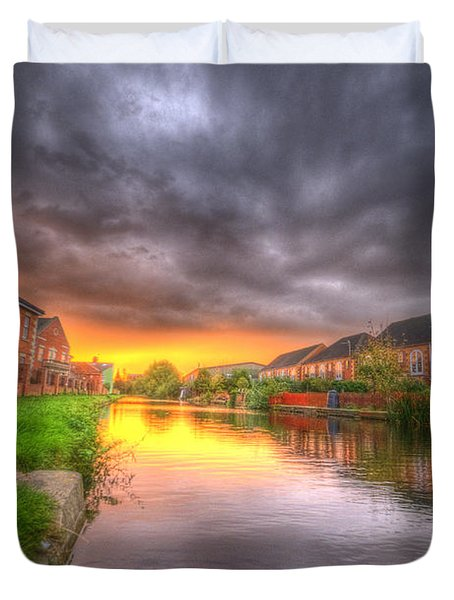 Fire And Storm Duvet Cover by Yhun Suarez