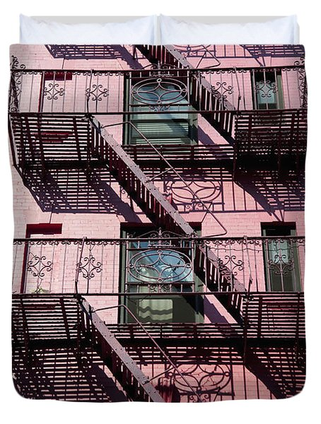 Fire Escape Duvet Cover by Axiom Photographic