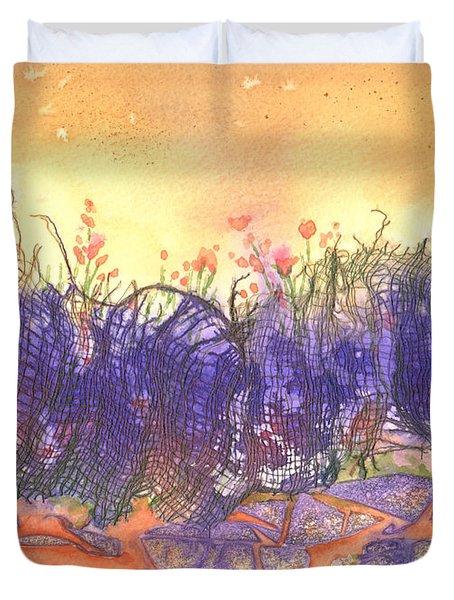 Fire Flowers Duvet Cover