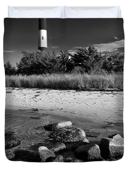 Fire Island In Black And White Duvet Cover