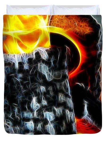 Fire Magic Duvet Cover by Mariola Bitner