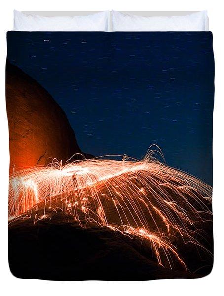 Firefall Duvet Cover