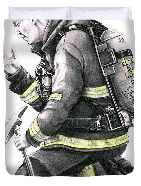 Firefighter Duvet Cover by Murphy Elliott