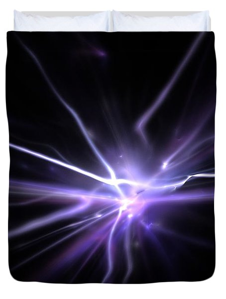 Duvet Cover featuring the digital art Firefly by Kim Sy Ok