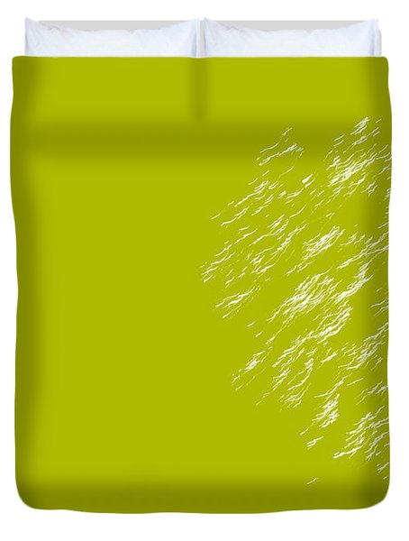 Firework Abstract Lv Duvet Cover by Michelle Calkins