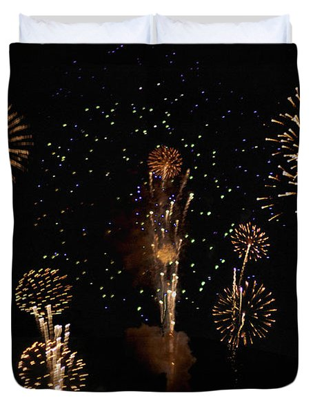 Fireworks Duvet Cover by Bill Cannon