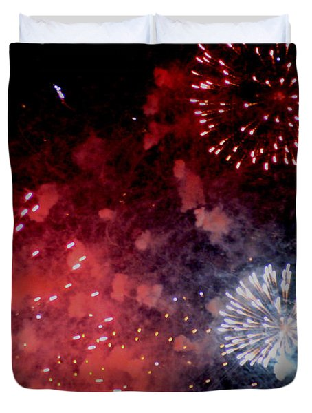 Fireworks II Duvet Cover by Kelly Hazel