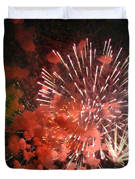 Fireworks Duvet Cover by Kelly Hazel