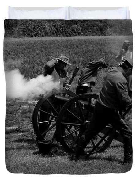 Firing The Canon Duvet Cover