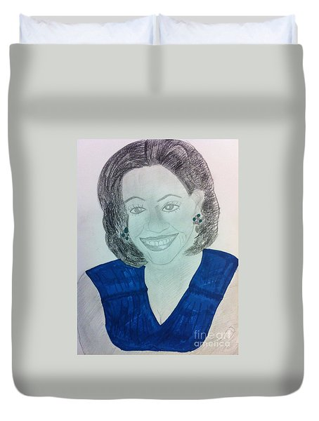 First Lady Michelle Obama Duvet Cover