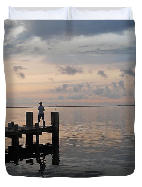 Duvet Cover featuring the photograph First Light by Clara Sue Beym