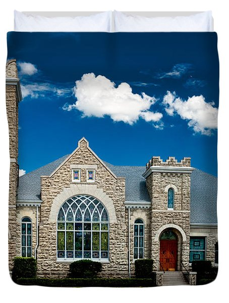 First Presbyterian Church Of Eustis Duvet Cover by Christopher Holmes