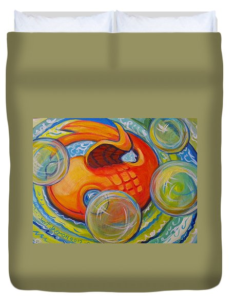 Fish Fun Duvet Cover by Jeanette Jarmon