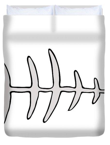 Fish Skeleton - Fishbones Duvet Cover