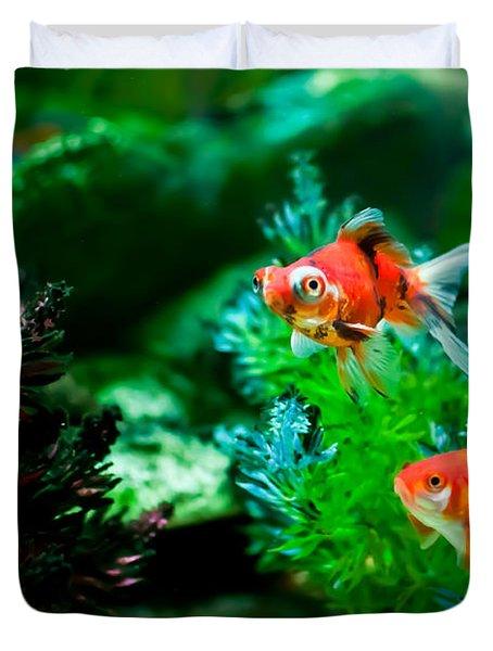 Duvet Cover featuring the photograph Fish Tank by Matt Malloy