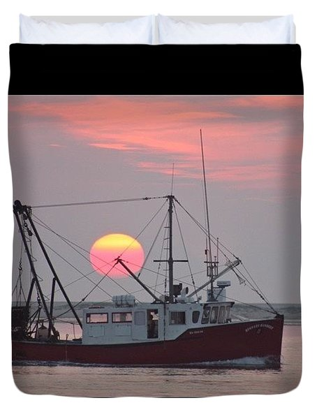 Fishermans Sunrise Duvet Cover by Justin Connor