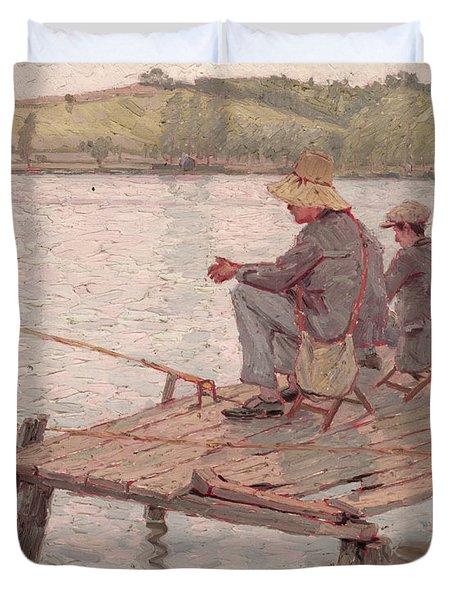 Fishermen Duvet Cover by Pierre Roche