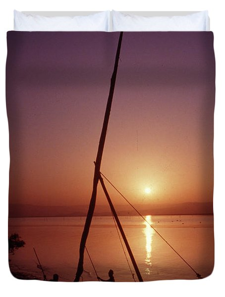 Fishermen Duvet Cover by Vilas Malankar