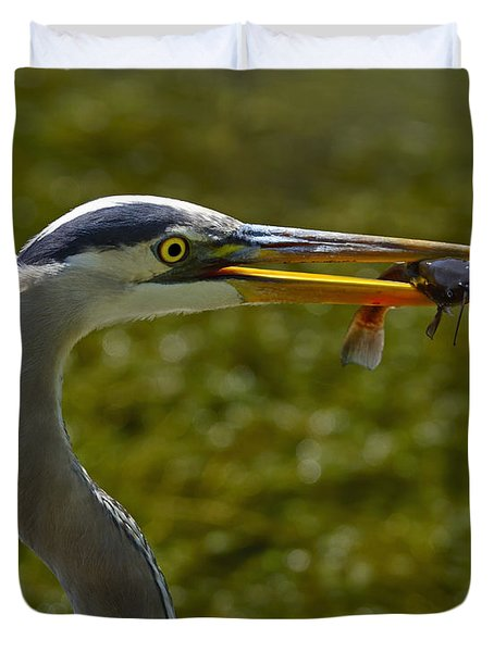 Fishing For A Living Duvet Cover by Tony Beck