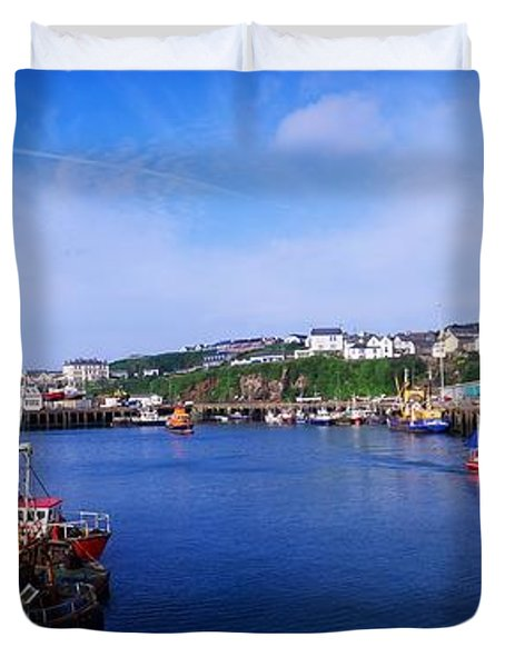 Fishing Harbour, Dunmore East, Ireland Duvet Cover by The Irish Image Collection