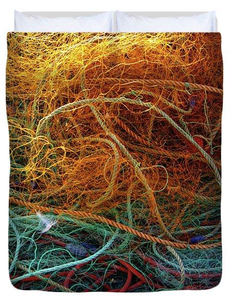 Fishing Nets Duvet Cover by Carlos Caetano