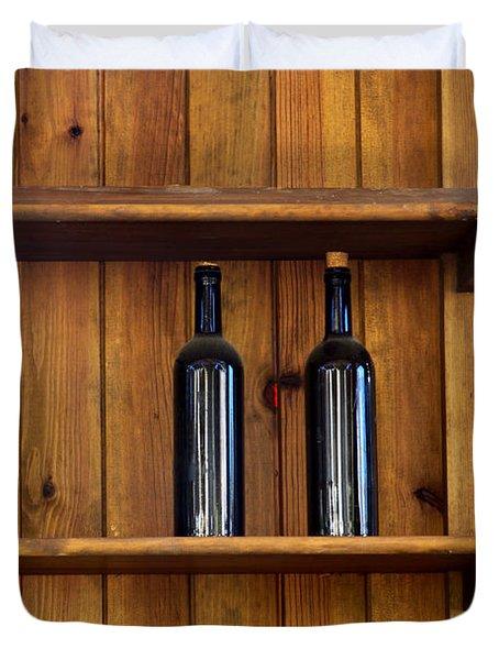 Five Bottles Duvet Cover by Carlos Caetano