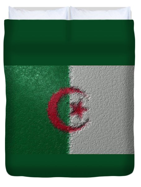 Flag Of Algeria Duvet Cover by Jeff Iverson