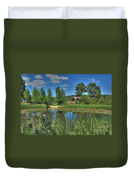 Duvet Cover featuring the photograph Flagstaff by Tam Ryan