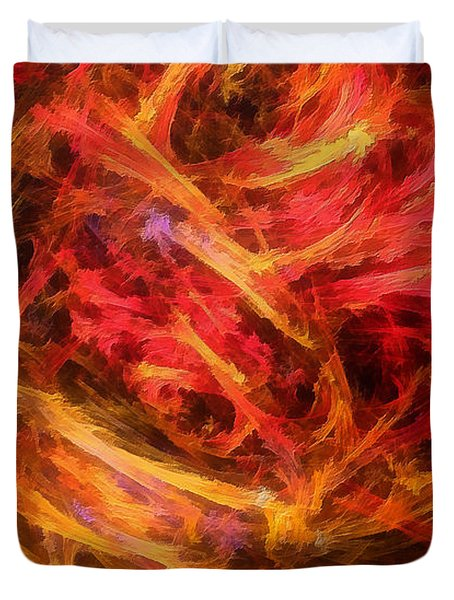 Flamboyance Duvet Cover by RochVanh