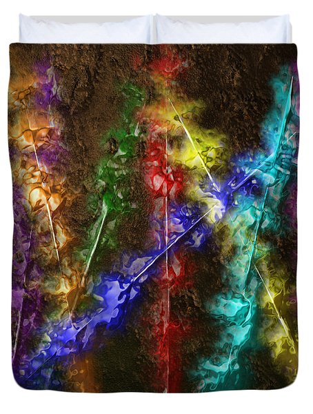 Flaming Arrows Duvet Cover by Michael Hurwitz