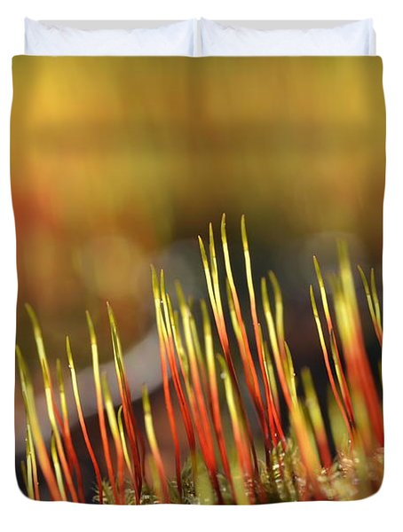 Flaming Moss Duvet Cover