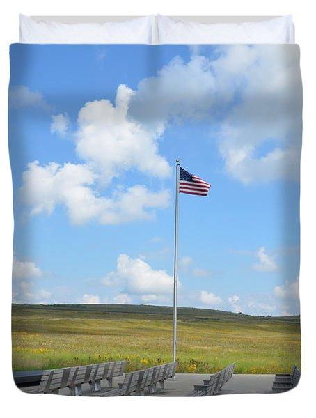 Flight 93 Memorial Duvet Cover