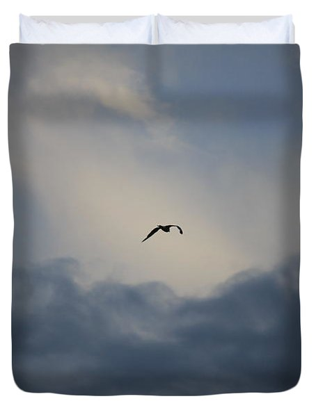 Duvet Cover featuring the photograph Flight To Heaven by Penny Meyers