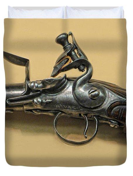 Flintlock Pistol Duvet Cover by Dave Mills