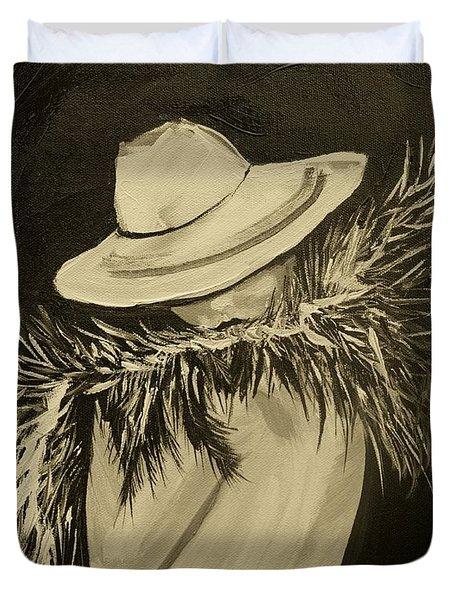 Flirt Three Duvet Cover by Leslie Allen