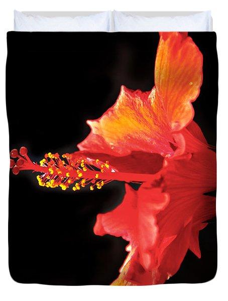 Floating Hibiscus Duvet Cover