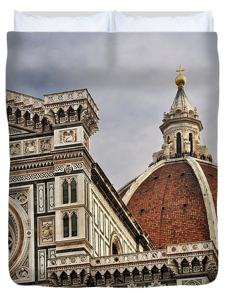 Florence Duomo Duvet Cover by Steven Sparks