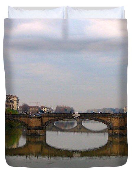 Florence Italy Bridge Duvet Cover