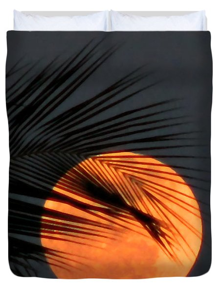 Florida Moonrise Duvet Cover