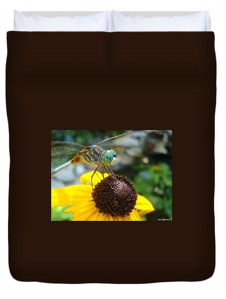 Flower Bench Duvet Cover