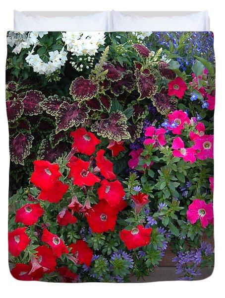 Duvet Cover featuring the photograph Flower Box by Vilas Malankar