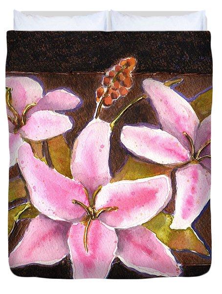 Flower Icon Duvet Cover