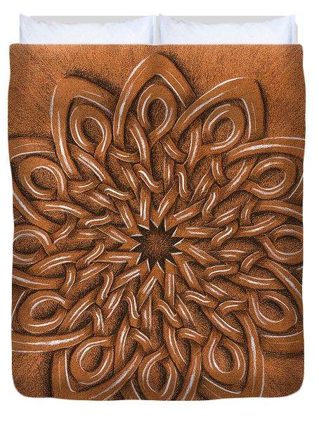 Flower Mandala Duvet Cover by Hakon Soreide