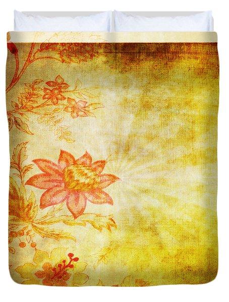 Flower Pattern Duvet Cover by Setsiri Silapasuwanchai